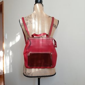 Perlina Judi Convertible Small Leather Backpack